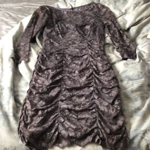 Eliza j Royal colletion dress lace gray 6 cocktail